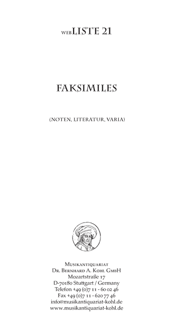 Download Liste 21 – Faksimiles (Noten, Literatur, Varia)